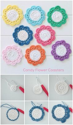 Crochet Coasters – 70 Free Patterns for Beginners 70 Easy Free Crochet Coaster Patterns for Beginners – Page 12 of 14 – DIY & Crafts Crochet Car, Crochet Puff Flower, Crochet Flower Patterns, Doily Patterns, Crochet Gifts, Easy Crochet, Crochet Flowers, Free Crochet, Knitting Patterns
