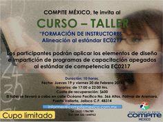 Capacítate y certifícate como instructor de cursos presenciales informes@compitemexico.com.mx Teñ. 1786789