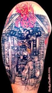 What does firefighter tattoo mean? We have firefighter tattoo ideas, designs, symbolism and we explain the meaning behind the tattoo. Fireman Tattoo, Firefighter Tattoos, Ems Tattoos, Bird Tattoos, Gear Tattoo, Tattoo Ink, Brother Tattoos, Geometric Tattoo Arm, Hummingbird Tattoo