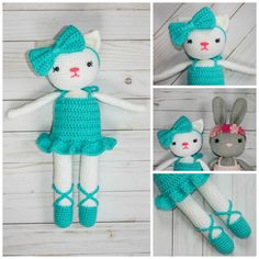 Ballerina Kitty Crochet Pattern