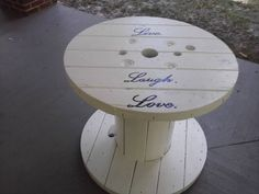Inspirational patio spool table.