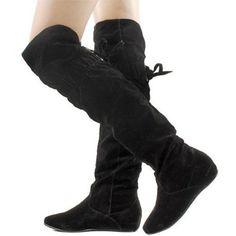 Wild Diva Candies 100 Thigh High Velvet Fashion Boots,$36.99