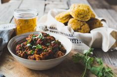 Victory Chili + Whole Wheat Butternut Squash Biscuits