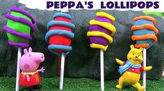 Peppa Pig Play Doh Surprise Egg Lollipops Thomas & Friends Shopkins Disn...