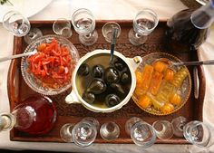 An assortment of spoon sweets at Gormos taverna in the village of Parakalamos, in Epirus.