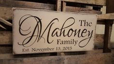 Personalized Family Carved Wooden Sign - Last Name Sign - Family Established Sign