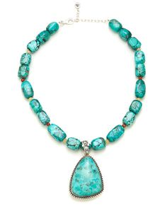 Barse Silver Turquoise Necklace