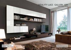 bono design nappali – Google Kereső Desk Wall Unit, Living Room Wall Units, Living Room Modern, Modern Wall, Mid Century Wall Unit, Mid Century Living Room, Floating Wall Unit, Entertainment Wall Units, Ikea Wall