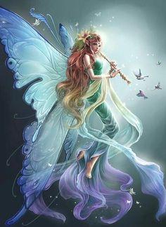 Flute Fairy by Chezhina Svetlana;