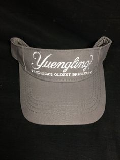 e08b22a0 Yuengling Beer Americas Oldest Brewery Golf Grey Visor Hat Advertising  Visor Cap, Hats For Sale