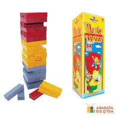 JOGO MONTE TORRE MADEIRA http://abaratadizqtem.com.br/produtos-por-func-o/montar-colorir-pintar/jogo-monte-torre-madeira