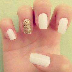Gold acsent nail