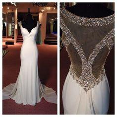 White Prom Dress , Mermaid Long Prom Dress Evening Dress