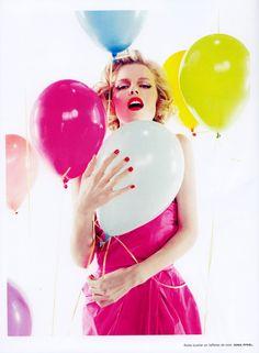 Magazine: Numéro (Issue #100)  Editorial: Happy Birthday  Photographers: Sofia Sanchez & Mauro Mongiello  Model: Eva Herzigova