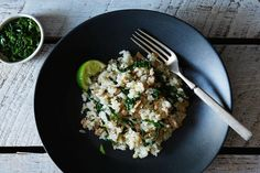 Scallion Coconut Rice with Pork recipe: Just the right amount of sweet and salty. #food52