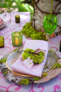 Forest / woods themed table setting