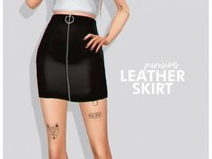 The Sims 4 Leather skirt by puresims