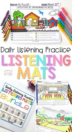 Listening activities: 7 important ideas for teaching listening skills in the classroom, such as whole body listening, class games, and daily practice ideas. Active Listening, Listening Skills, Reading Skills, Guided Reading, Reading Fluency, Listening Centers, Reading Help, Reading Games, Listening And Following Directions