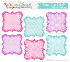INSTANT DOWNLOAD winter fun patterned by JessicaSawyerDesign