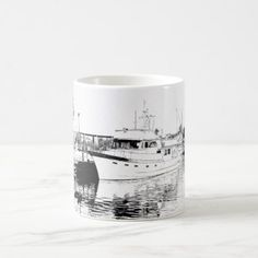 All Tied Up --  Boat and pier ---coffee mug - decor gifts diy home & living cyo giftidea