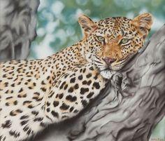 Satisfaction  Leopard Print by Wildlife Artist by KuteFineArt, £60.00