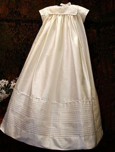 Traditional Christening Gown in Silk