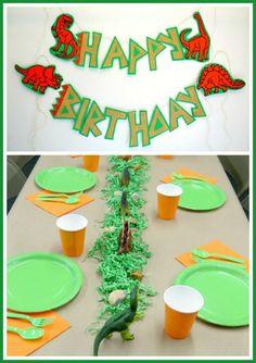 DinoROAR birthday party package by Pinwheel Lane on etsy Dinosaur