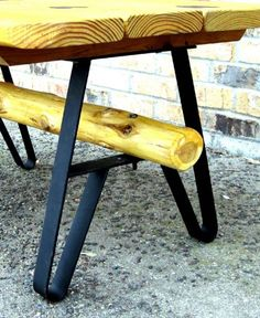 DIY Metal Table Legs | Bench or Table DIY with these Wrought Steel Legs. Painted Flat Black
