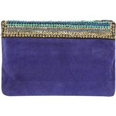 Matthew Williamson Peacock Feather Clutch Bag