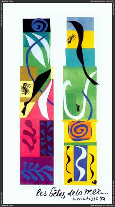 """Collage: Henri Matisse, """"The Beasts of the Sea,"""" 1950."""