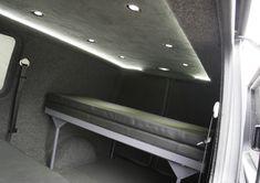 Camper Van Kombi Bed photos Kombi Camper, Camper Van, Campers, Vw T5 Caravelle, Van Racking, Day Van, Bed Photos, Lighting Ideas, Vans