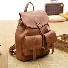 Fashion Travel Packsack Purple Two Pockets College Women Backpack #bag #backpack