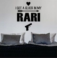 I Got A Glock In My Rari Fetty Wap Version 3 Decal Sticker Wall Vinyl Decor Art