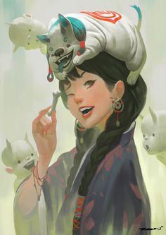 Witch Pet by ZeenChin.deviantart.com on @DeviantArt