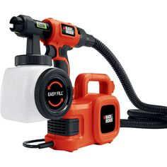 The BLACK & DECKER SmartSelect High Volume Low Pressure Paint Sprayer with 20 ft. Hose includes a pour or thinning assist bucket. It is great for transferring paint to the side fill canister cleanly. It is perfect for staining fences and furniture. Hvlp Paint Sprayer, Best Paint Sprayer, Paint Sprayers, Modern Country, Semi Transparent Stain, Easy Fill, Modern Tools, Water Based Stain, Cool Paintings