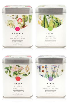 Knockout Botanical Packaging Designs For Organic Farms Tee Design, Design Poster, Label Design, Graphic Design, Package Design, Brand Design, Floral Design, Coffee Packaging, Pretty Packaging