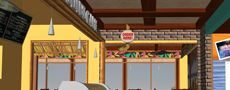 Woodies Cafe Interior and Exterior restaurant decor design - Santa Cruz, CA