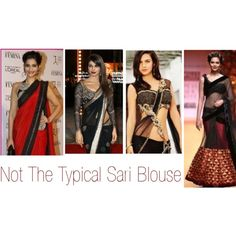 """""""Not The Typical Sari Blouse"""" by stylecrushh on Polyvore"""