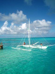Outrigger sailboat