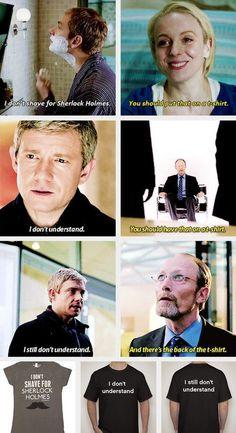 sherlock, funny, and Martin Freeman image #ad