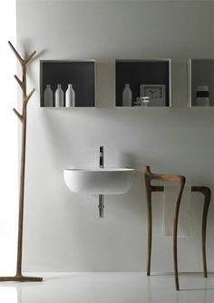 simple floating bathroom sink