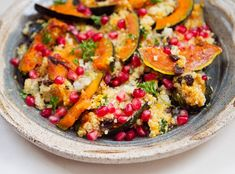 Quinoa with Acorn Squash and Pomegranate - A Thought For Food
