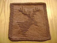 Moose/Deer Dishcloth free pattern