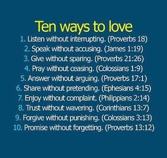 From the BEST book about love - The Holy Bible!