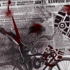 Crime Evidence  Blood and Scissors Wood Print