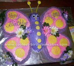 Girls Butterfly Birthday Cake likewise