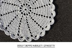 Gratis opskrift på doily tæppe hæklet i zpagetti