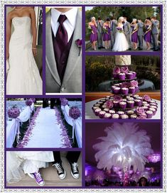 Purple and Grey Wedding like it but maybe too much purple