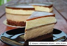 Kávés mousse torta Hungarian Desserts, Hungarian Cake, Hungarian Recipes, Dessert Drinks, Dessert Recipes, Croatian Recipes, Mousse, Cakes And More, Sweet Recipes
