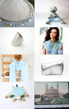 Blue Hat Woman by Rosa on Etsy--Pinned with TreasuryPin.com